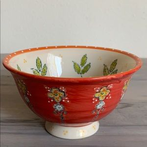 Orange Anthropologie cereal 🥣 bowl